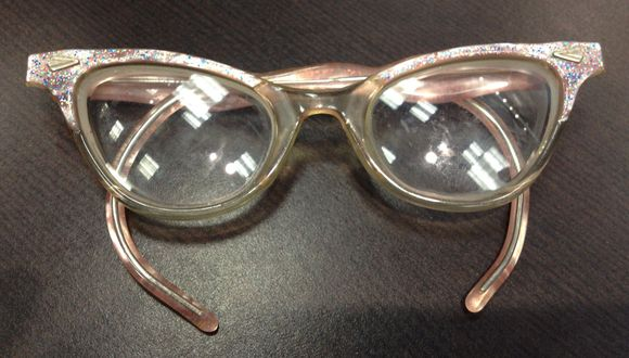 August vintage pink kids cat eyeglasses