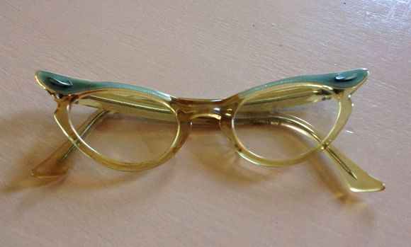 August blue vintage kids cat eyeglasses 2