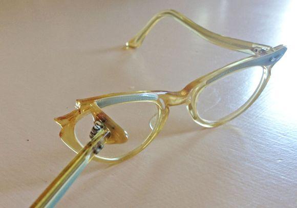 August blue vintage kids cat eyeglasses 5