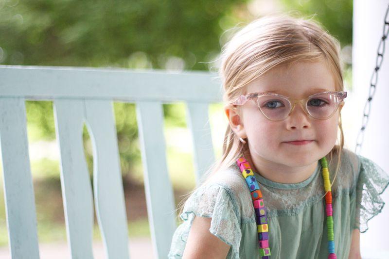 August pink eyeglasses serious 4