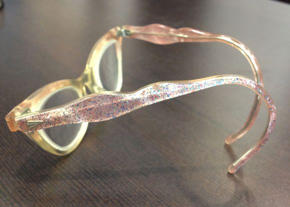 August vintage pink kids cat eyeglasses