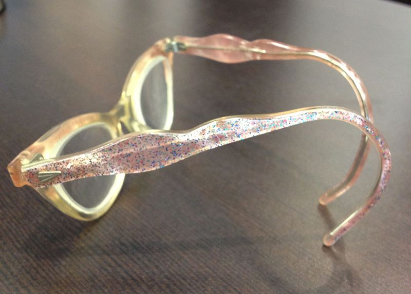 August vintage pink kids cat eyeglasses 2
